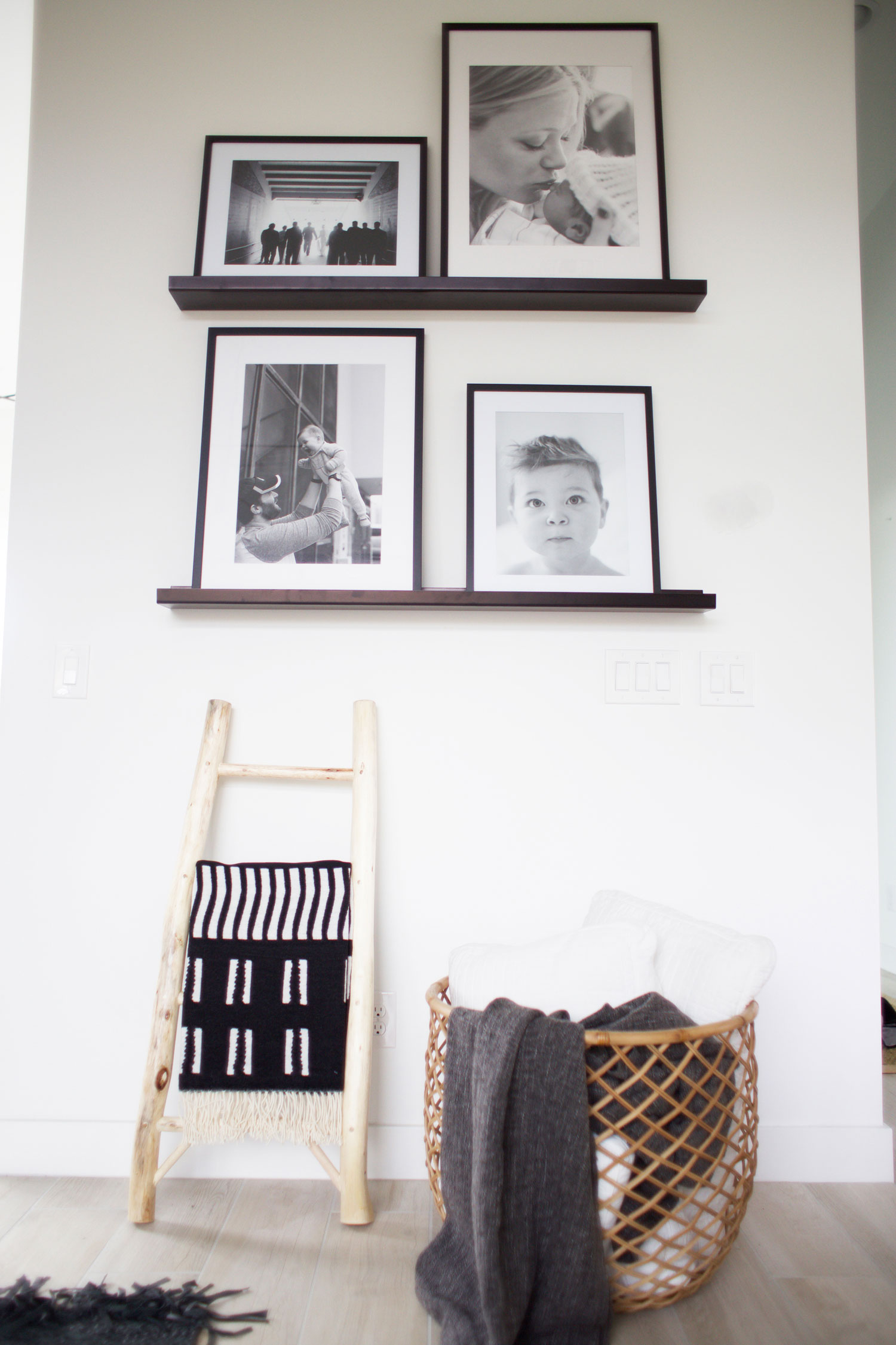 how to style a picture ledge