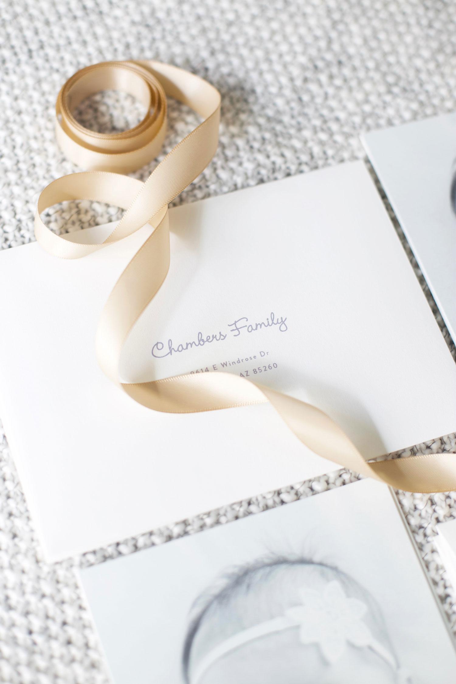 newborn announcement printed envelopes