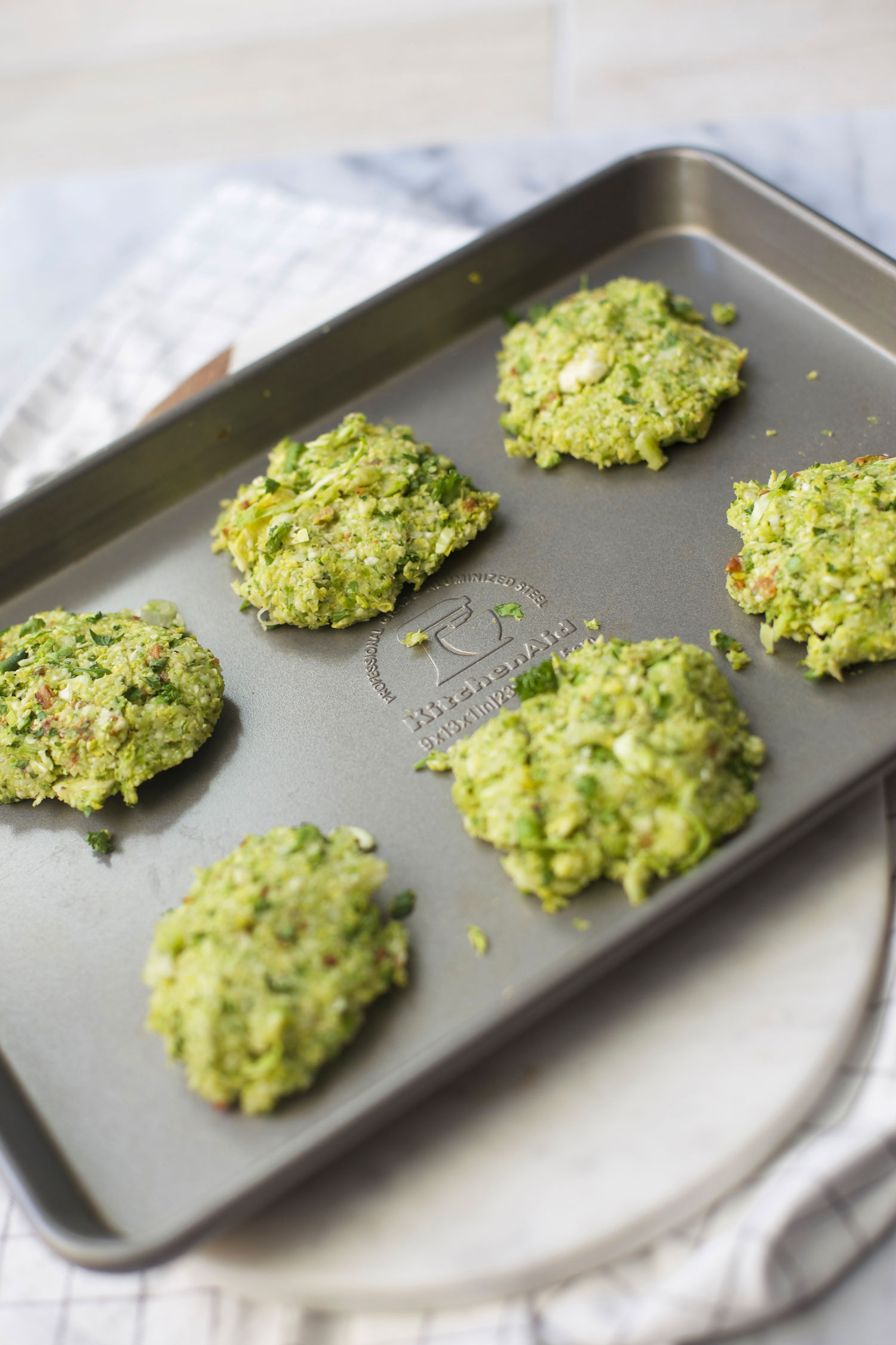 making brussels sprouts fritters
