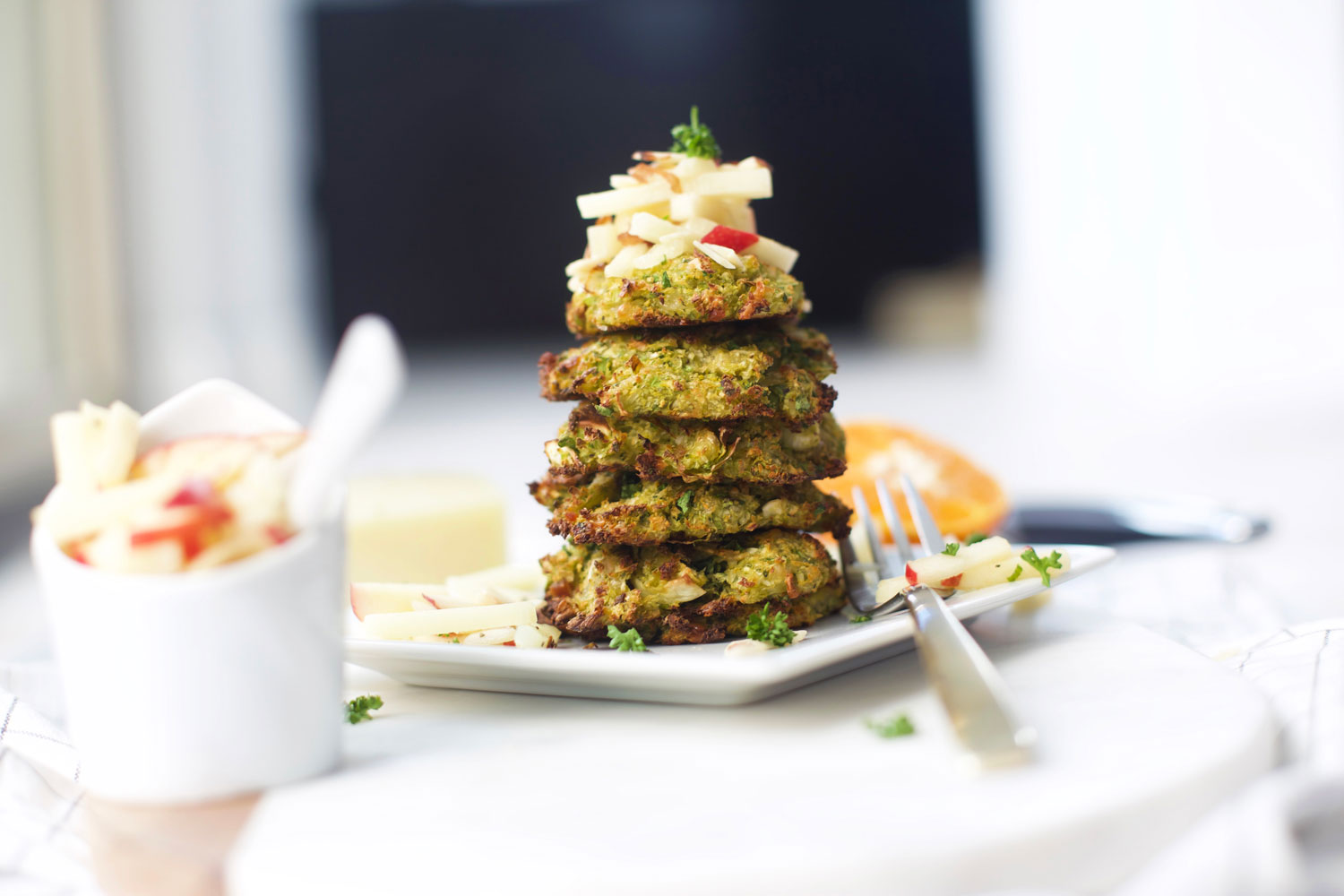 bacon brussels sprouts fritters