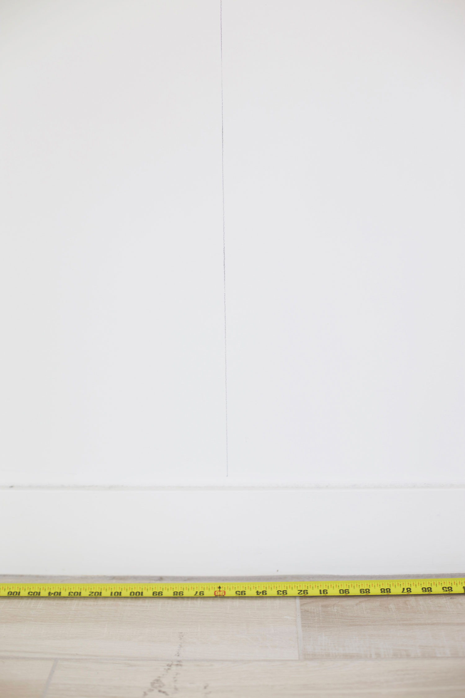 DIY herringbone wall step 1