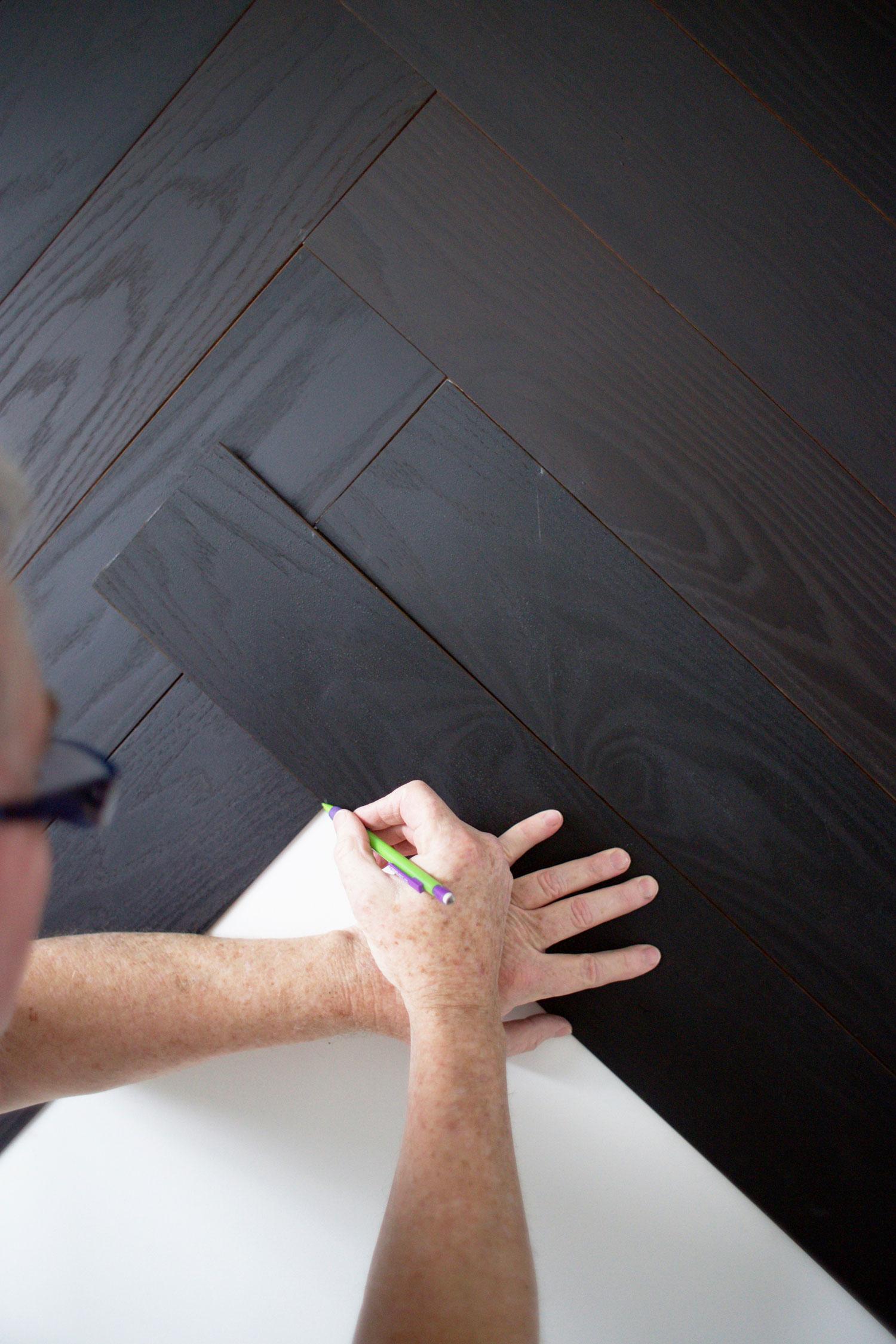 DIY herringbone wall step 7