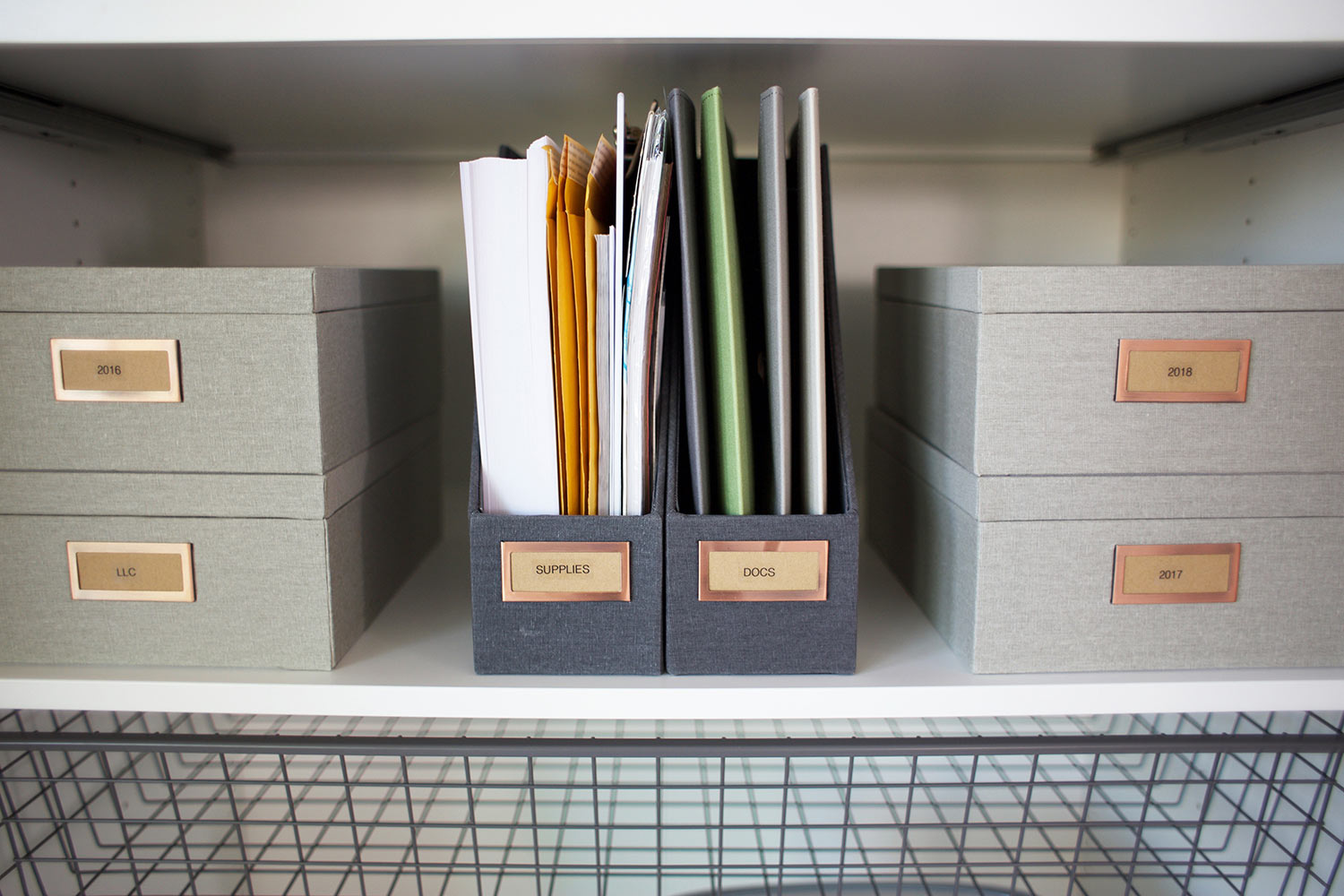storage boxes in everything cabinet