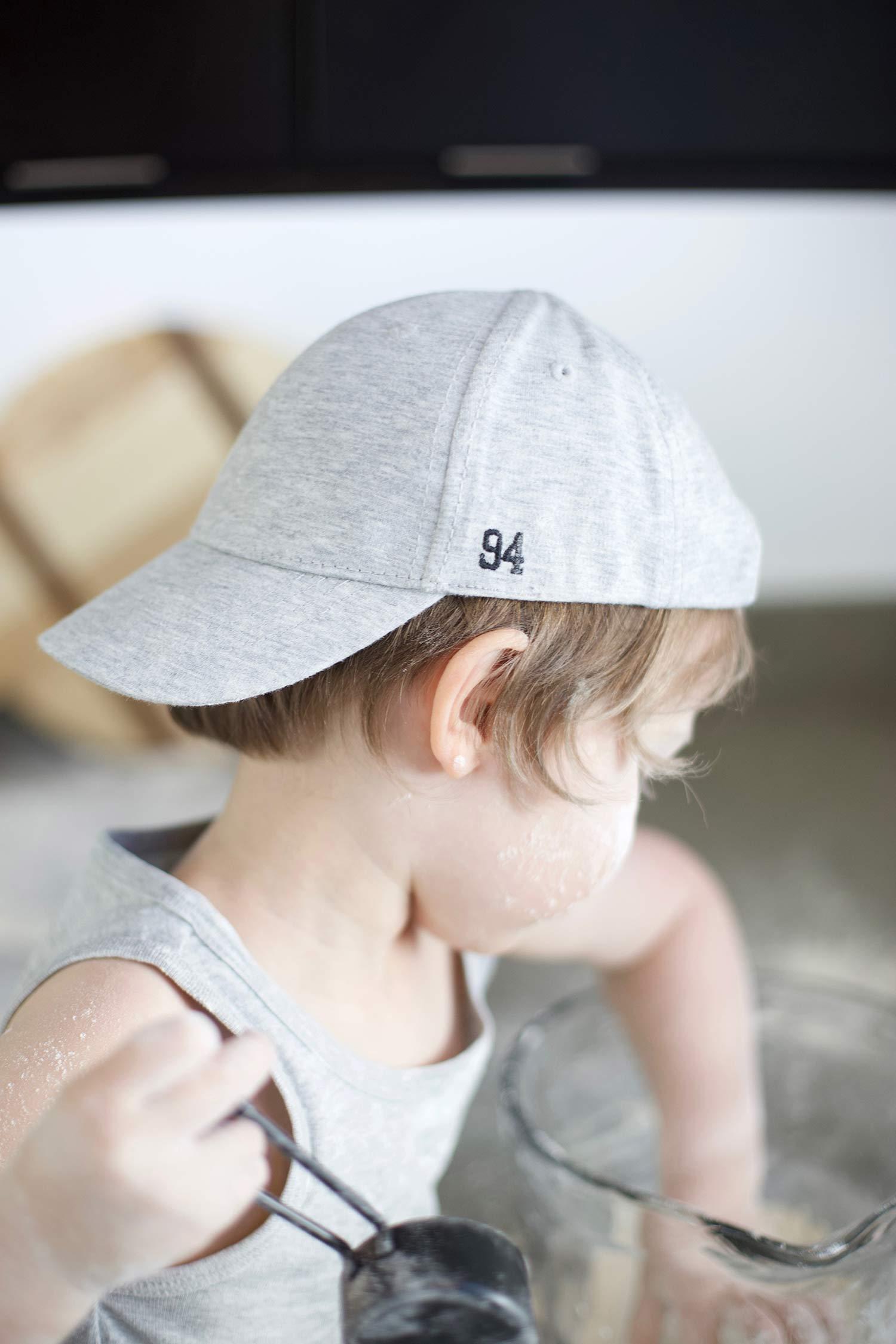 boy spring outfit gray cap