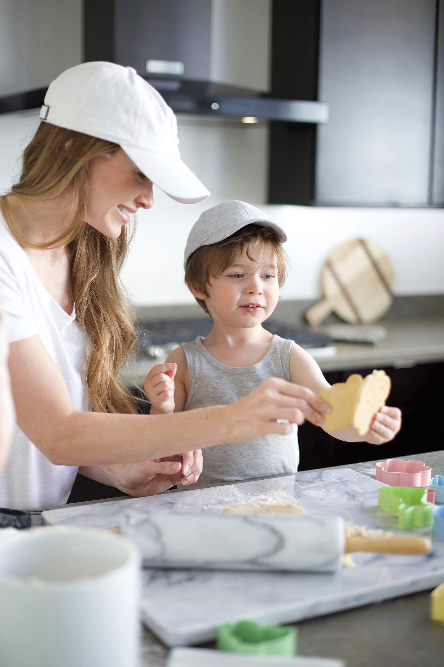 cookie baking with kids