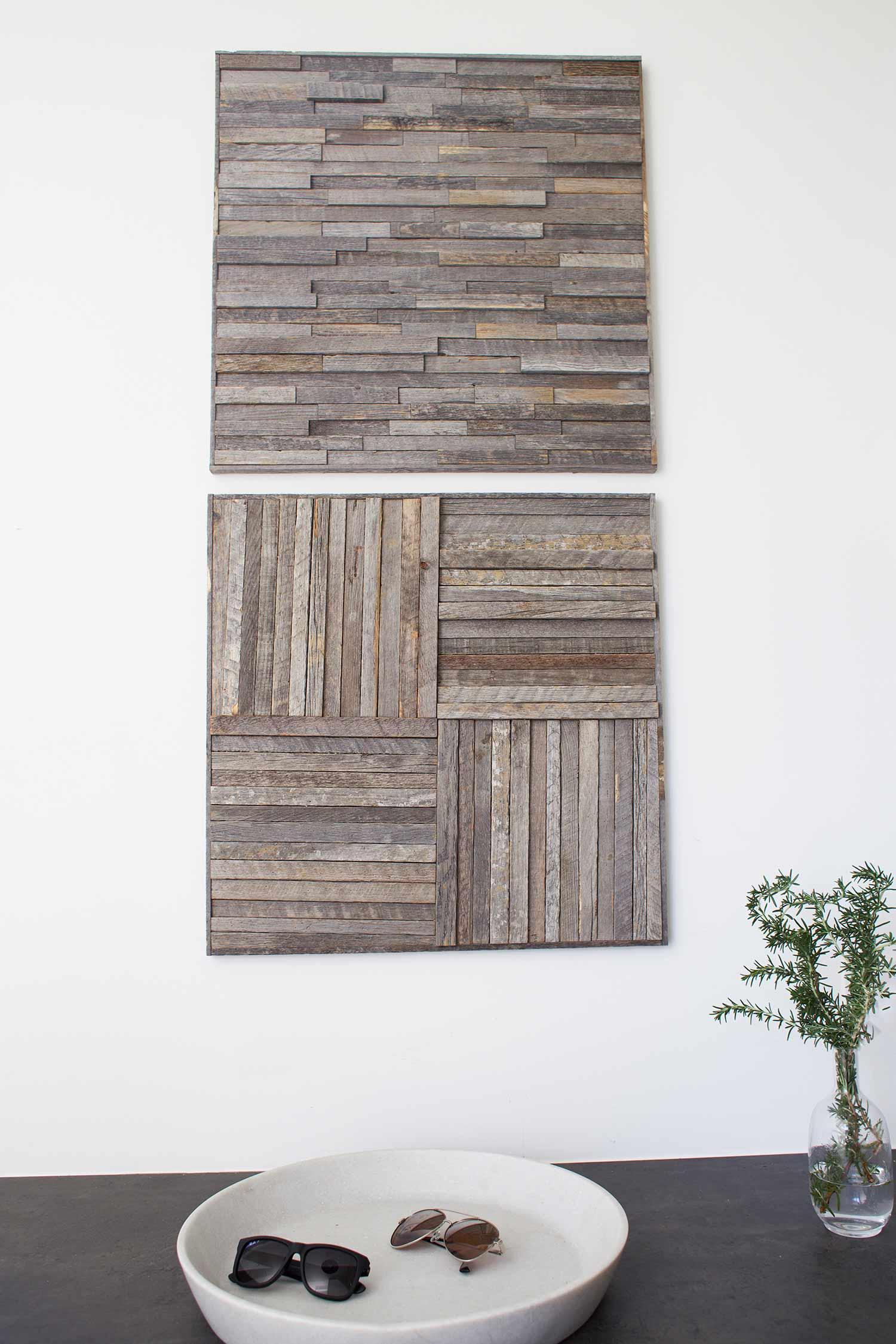 Stikwood wall art square panels