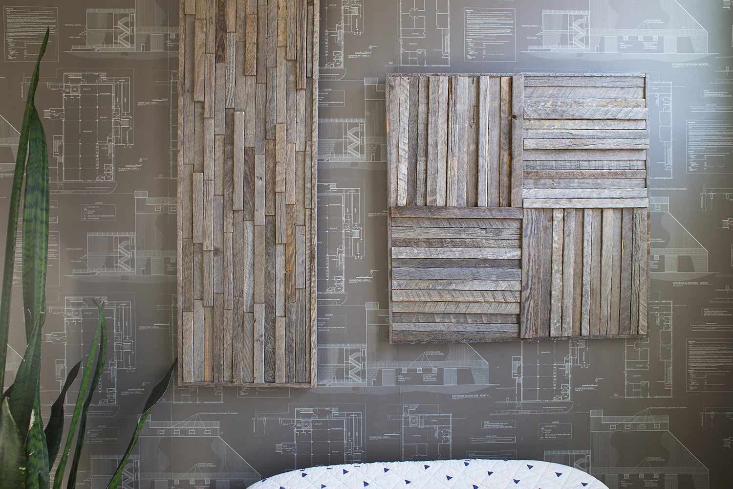 Stikwood wall art rectangle and square panel