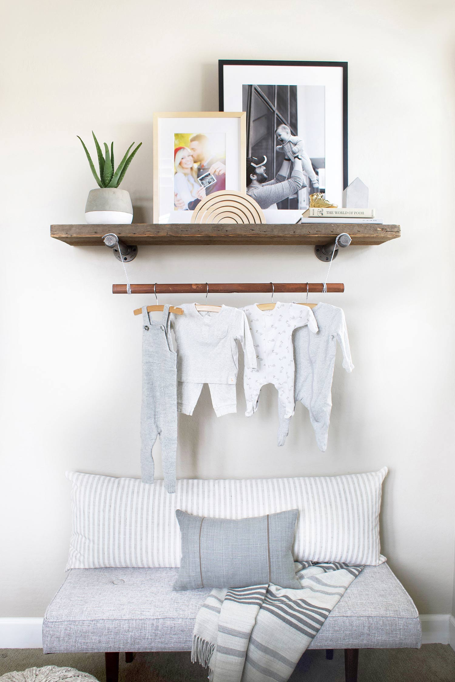 nursery reclaimed wood shelf