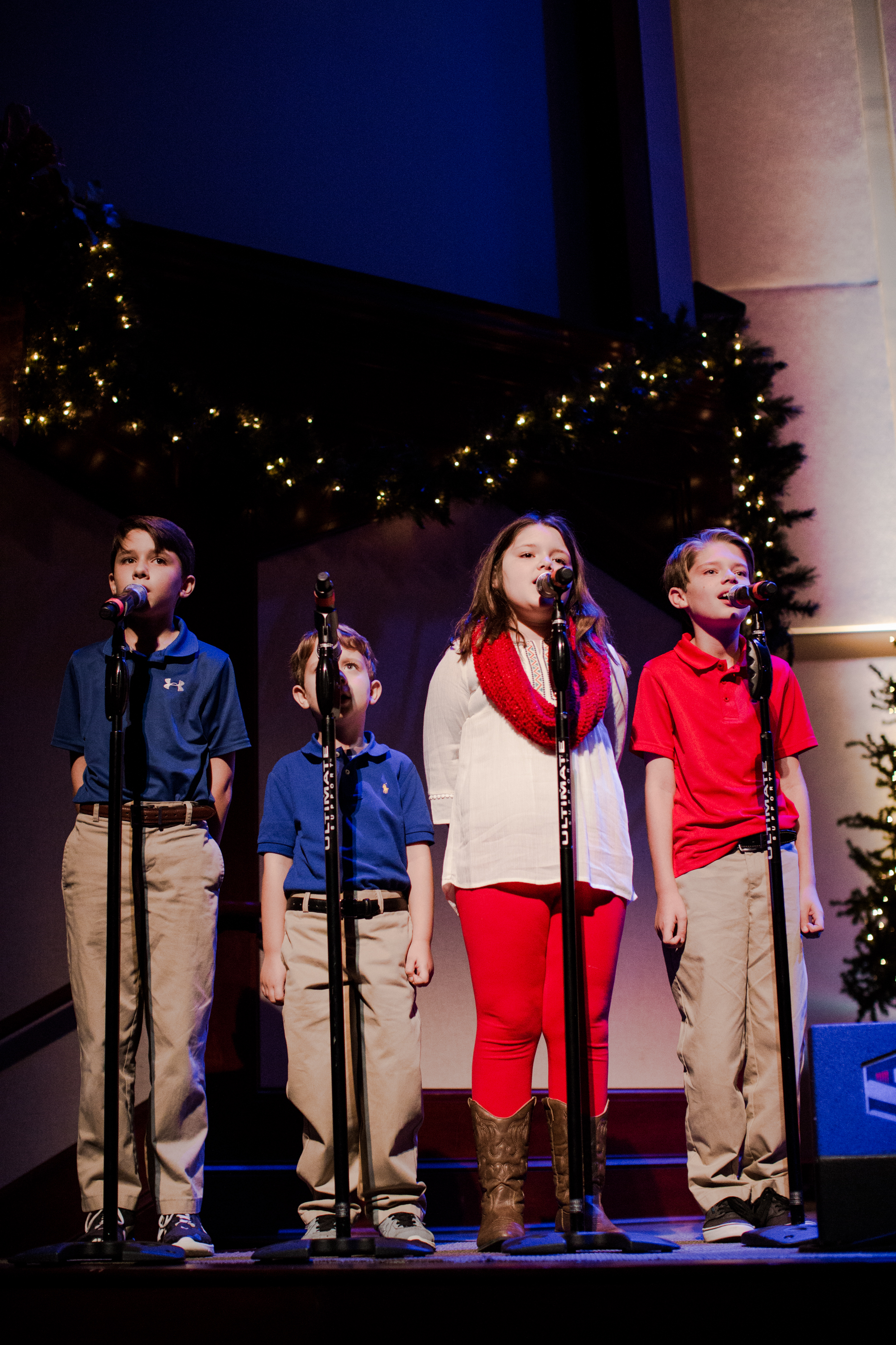 Photo by Amy Henry Photography. Jenny Pruitt's children joined her to sing one of her songs at  Creation Waits  Advent Offering at Oak Mountain Presbyterian Church November 29, 2016.