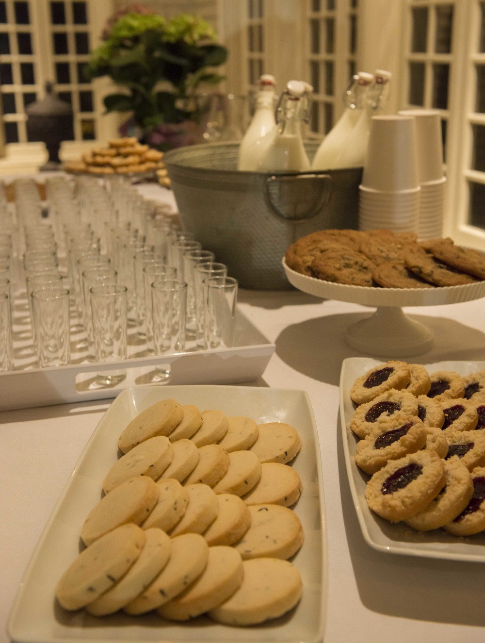 "Kristen Hall of  Feast & Forest  provides ""Milk and Cookie Happy Hour for Adults"" at intermission."