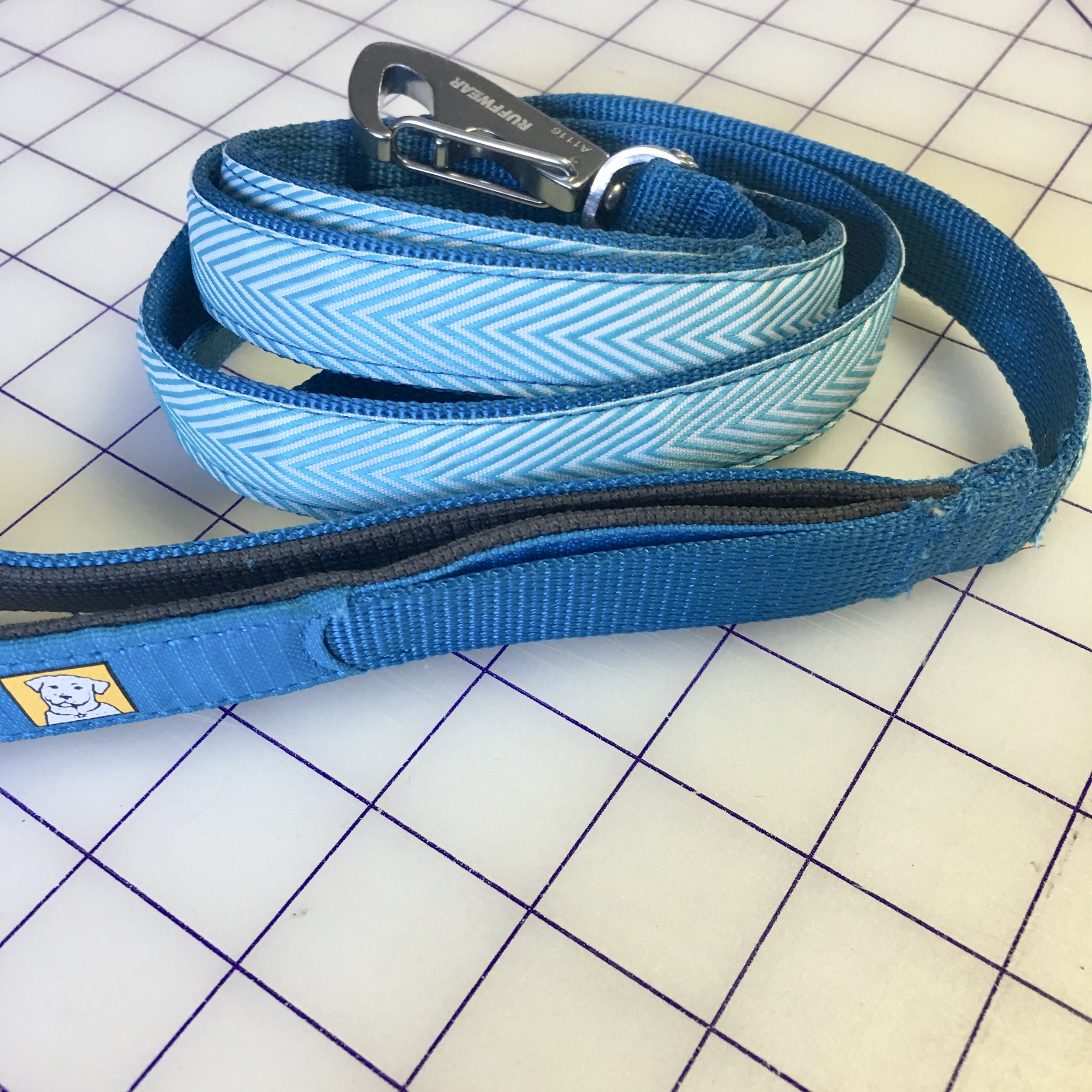 Repaired and embellished dog leash