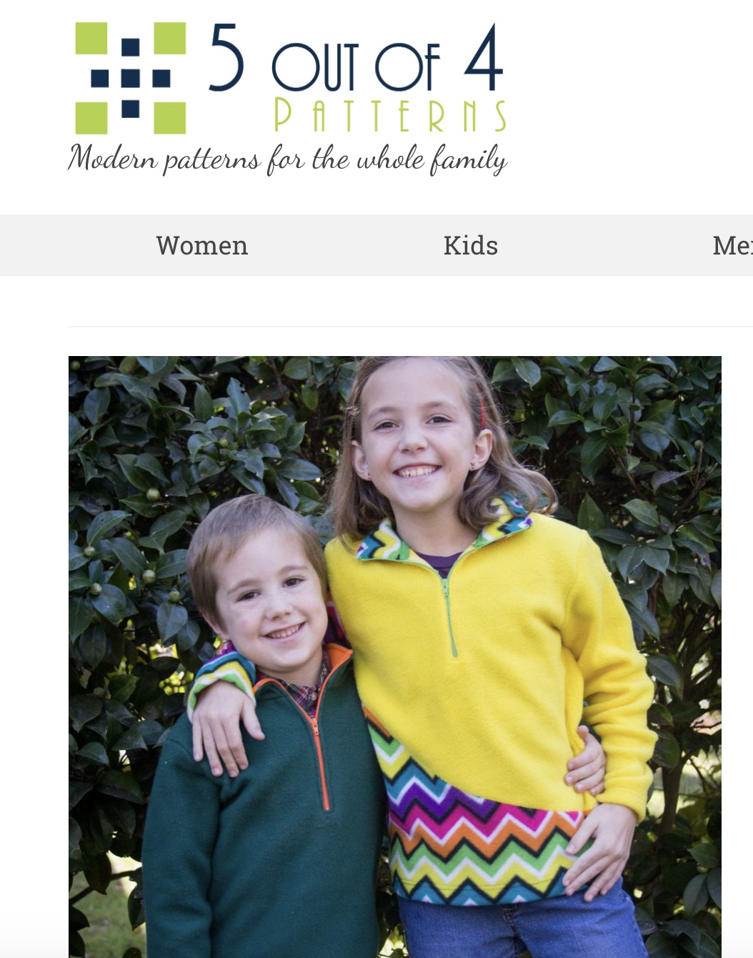 Pattern for Kids K2 Fleece Pullover