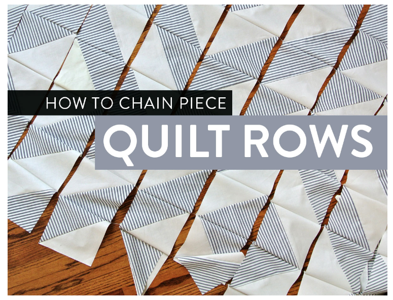 This is the link to Suzy Quilts video on Row Chain Piecing - it's really cool!