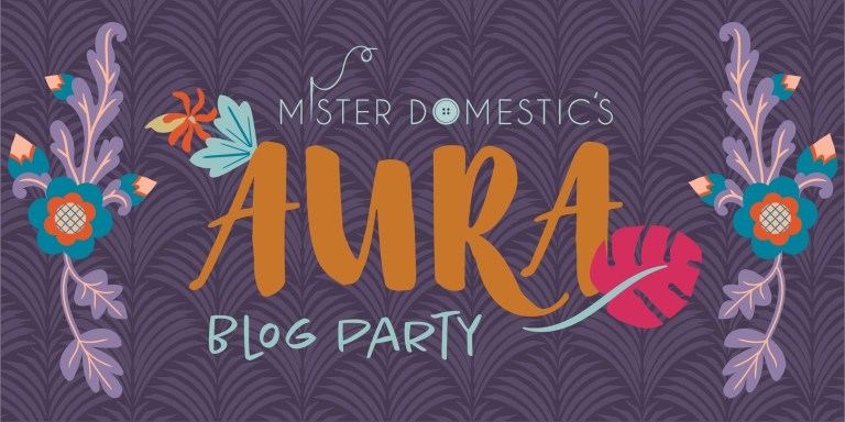 Check out 30 guest bloggers using Mr Domestic's Aura fabrics!