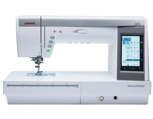 Kristin sews on a Janome Memory Craft 9400. Click for link to Janome