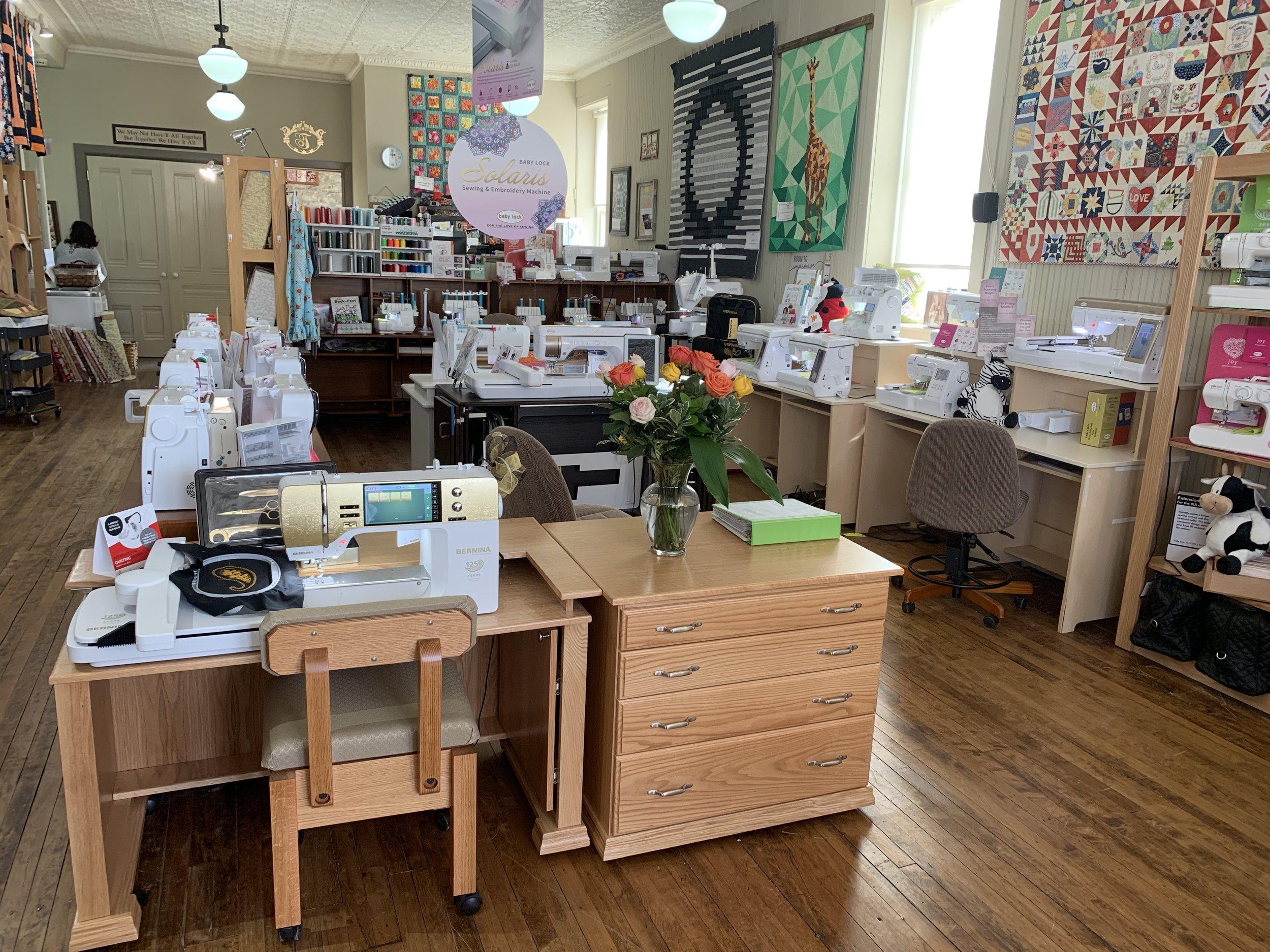 Sewing Machine Displays