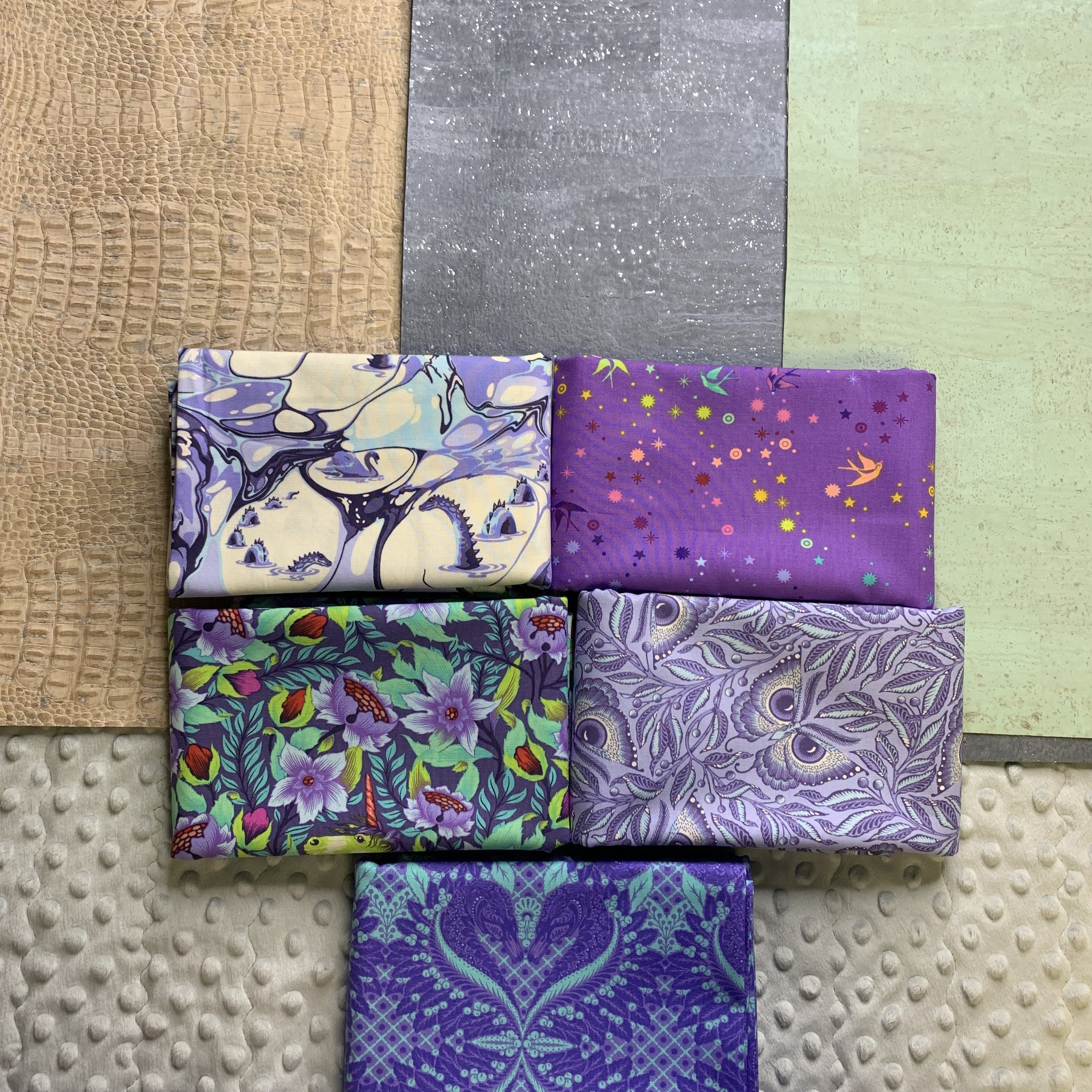 My new Tula Pinkerville fabrics and Cork from Sew Sweetness!! Click here for link