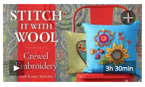 Bluprint Class - Crewel Embroidery