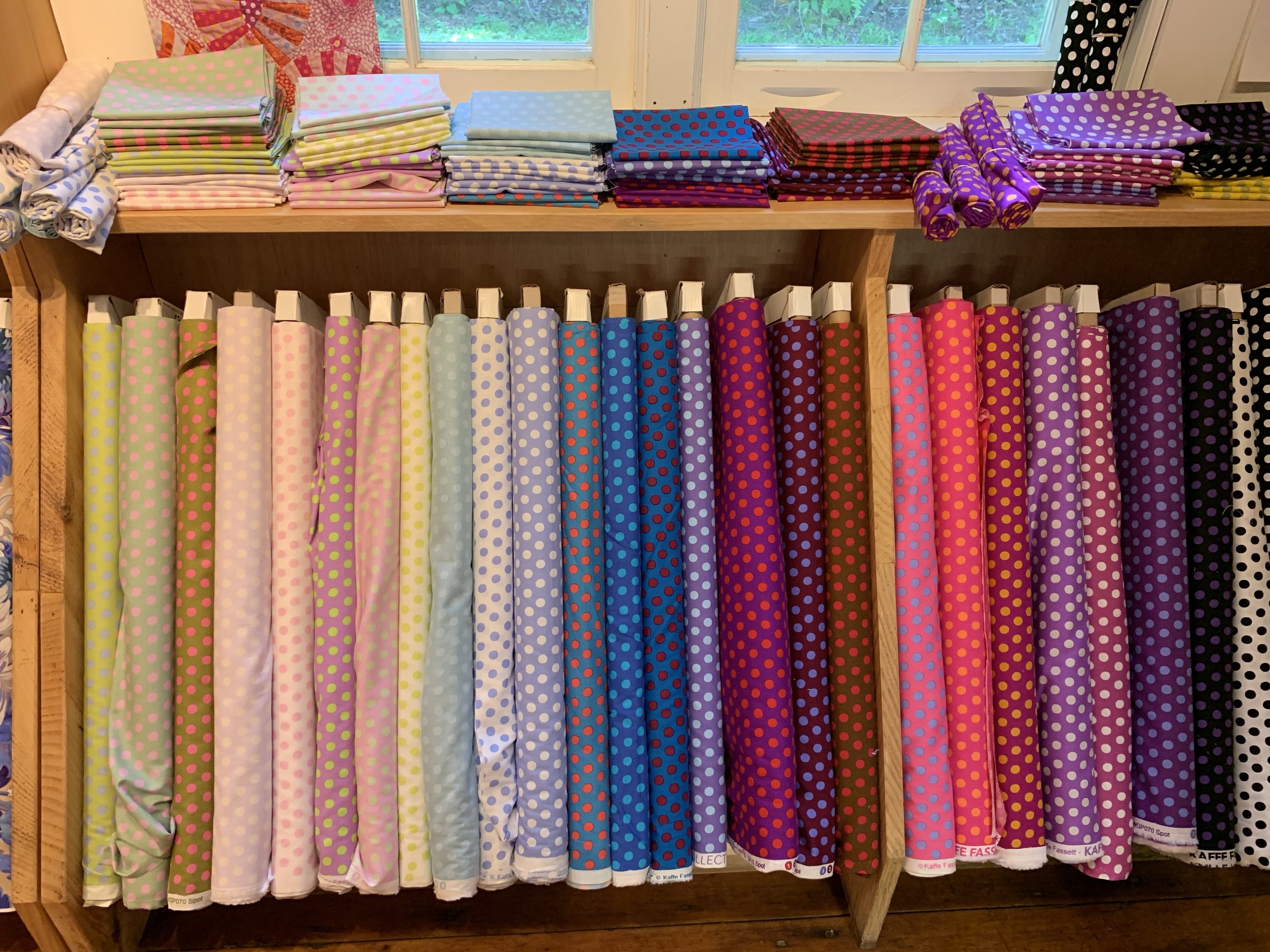 More colorful fabrics at quilt shop