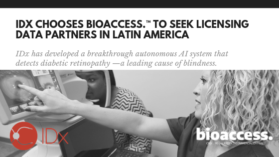 IDx Chooses bioaccess.™ to Seek Licensing Data Collaboration Partners in Latin America.png