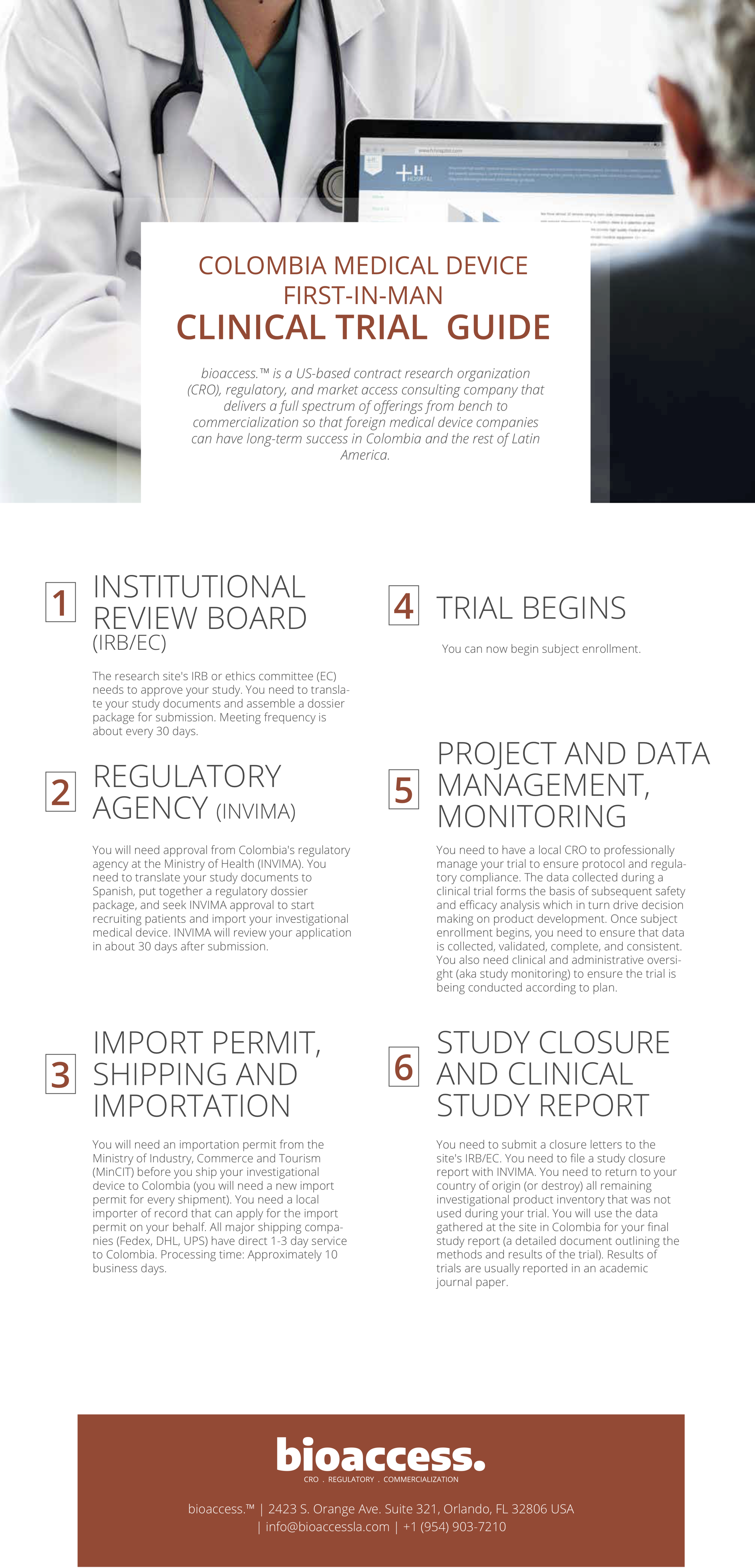 Download our first-in-man clinical trial guide for Colombia.