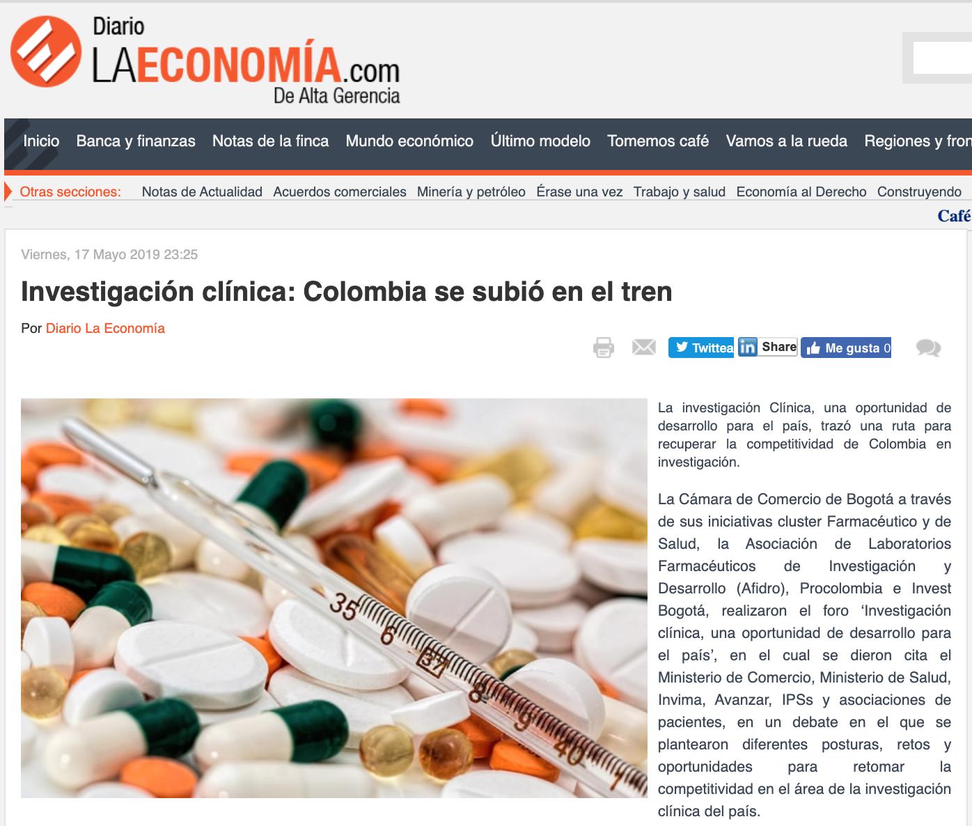 La investigación Clínica, una oportunidad de desarrollo para el país, trazó una ruta para recuperar la competitividad de Colombia en investigación.