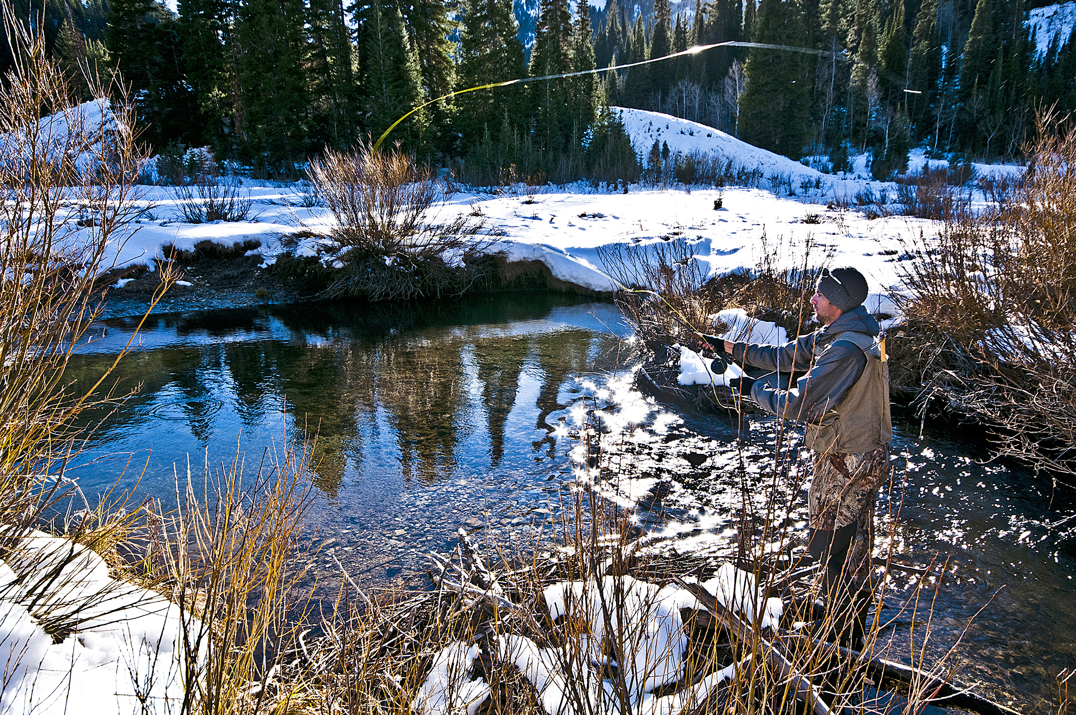 John Moore doing some fly fishing in Big Cottonwood Canyon