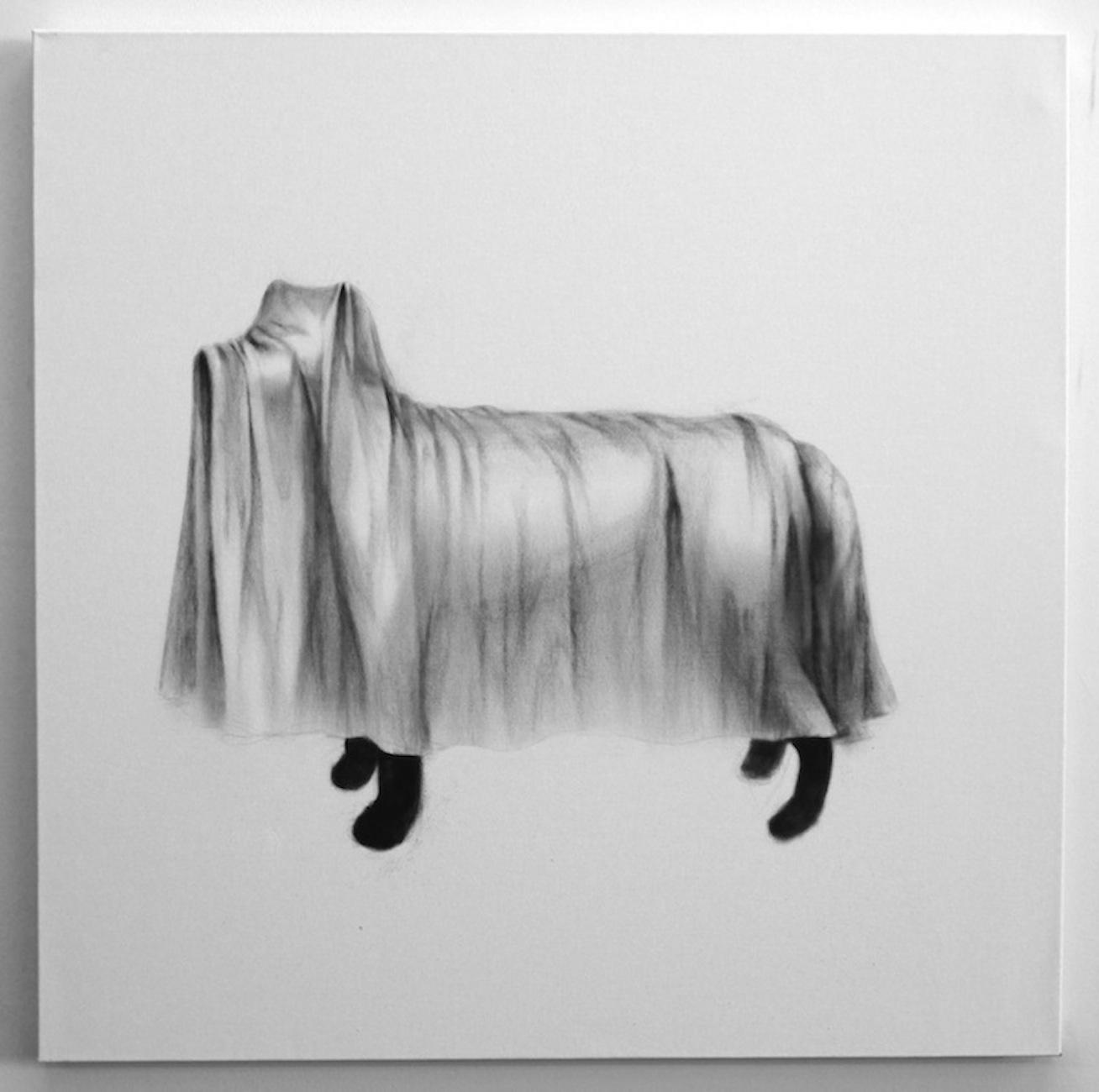 "Soo Shin\ Blind\ oil color on canvas\ h34xw34""\ 2012"