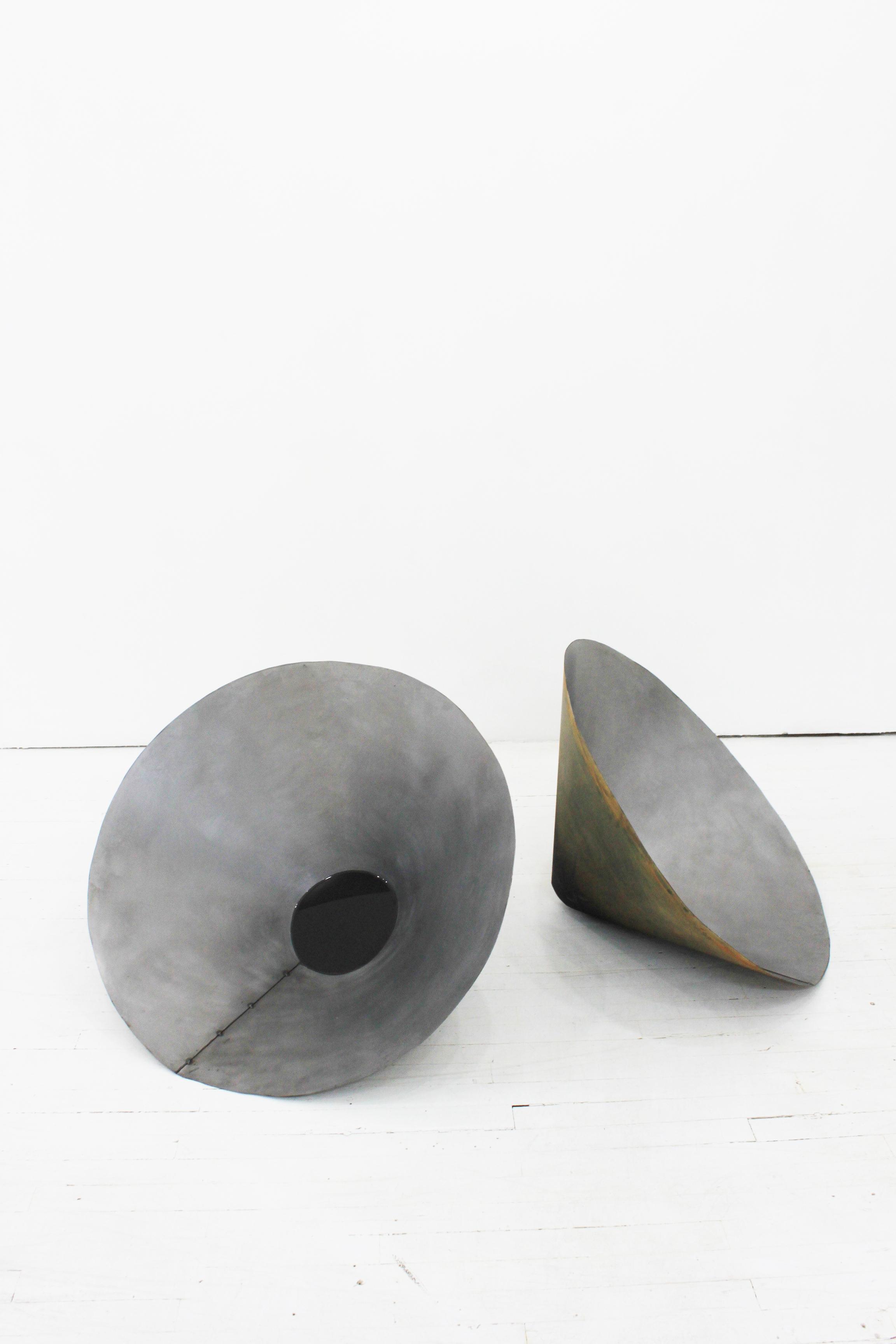 "Soo Shin\ Silence on My Ears\ steel, concrete, primer, resin\ h28"" w30"" d20""\2017"
