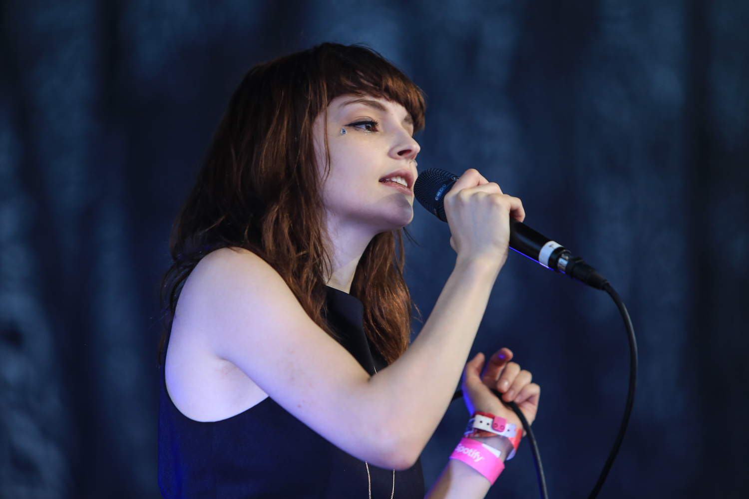 Chvrches perform  at the Spotify House @SXSW2016 photo: Anna Webber/Gettyimages for Spotify