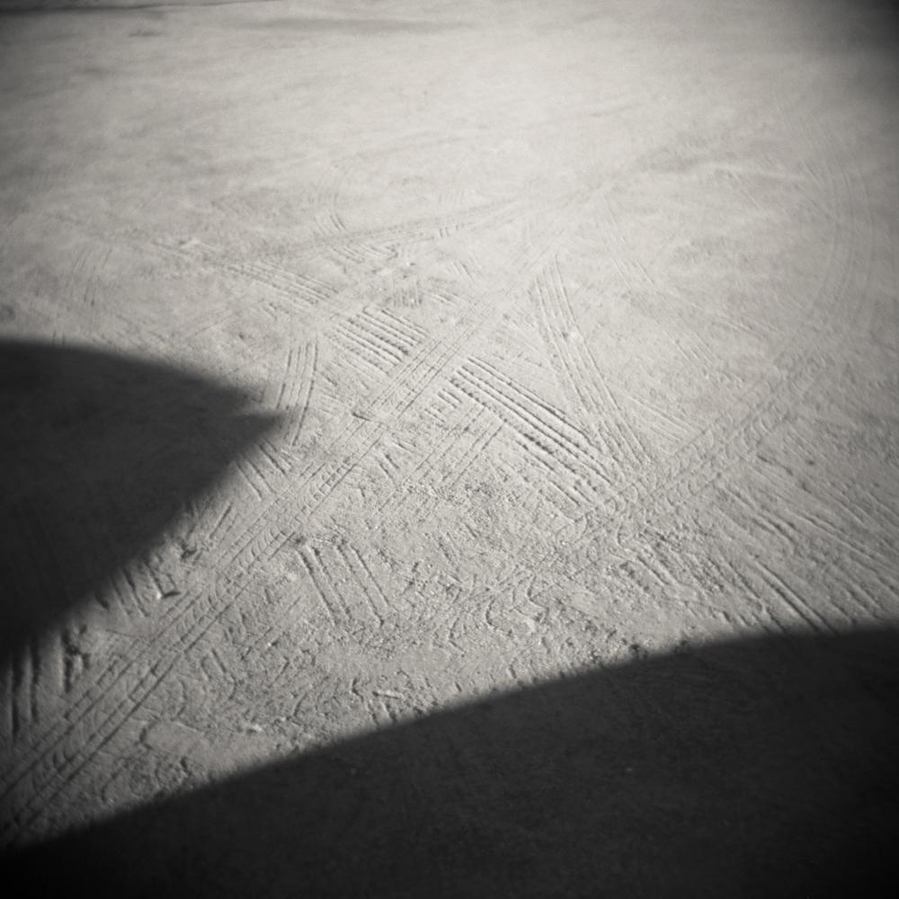 11/14 – Tracks   Gelatin Silver Print on Ilford Warmtone Fiber Paper © 2014,Gina DeGideo