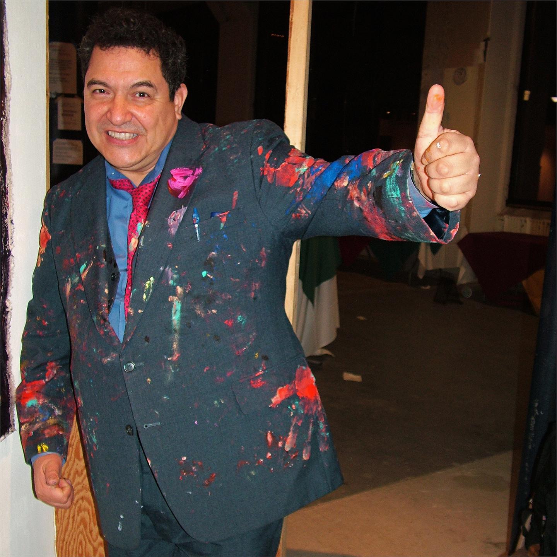 "Oscar Romero in Painting Suit, 2006  24"" x 24"""
