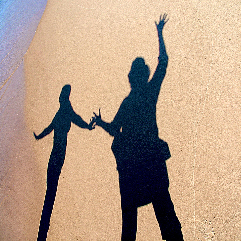 "Olga Semenova's Sand Shadow with Daughter, 2007   24"" x 24"""