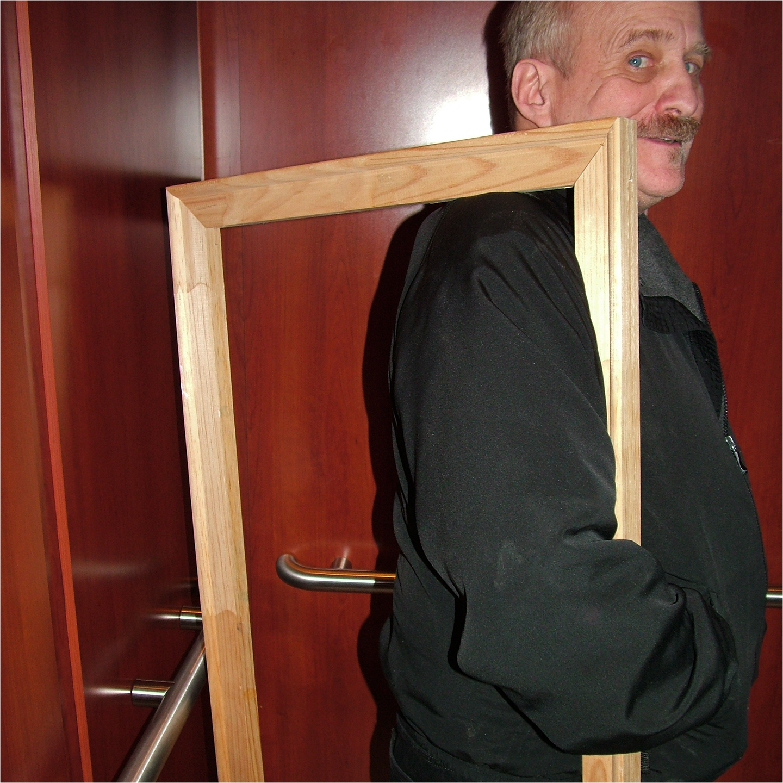 "Roger Bole on Elevator, 2008  24"" x 24"""