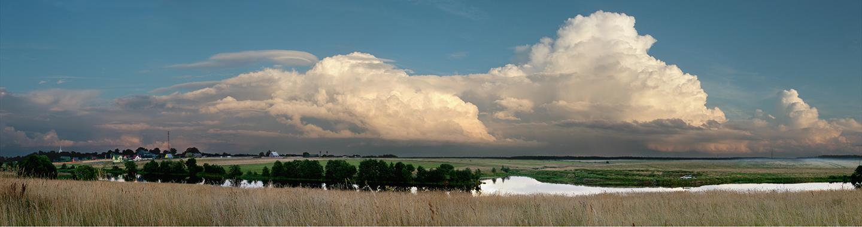 """Clouds Over Porech'e, 2008   22"""" x 72"""""""