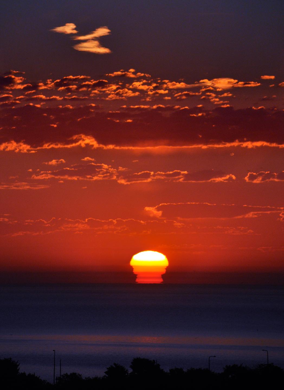 """Lake Michigan Sunrise, 2011   48"""" x 36"""""""