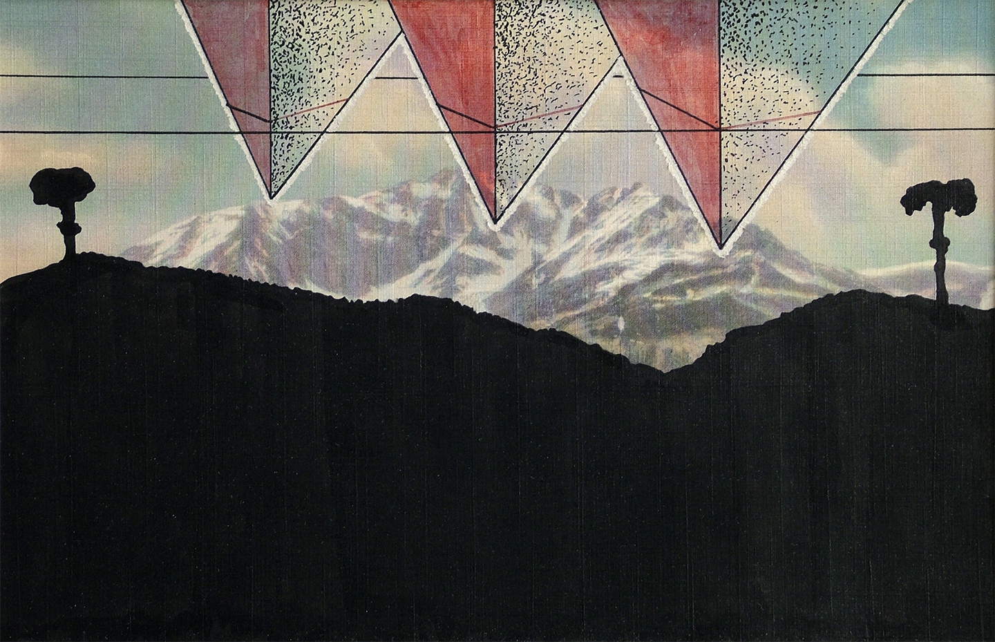 """Untitled No. 1, 1968  4"""" x 6"""" Ink on postcard"""