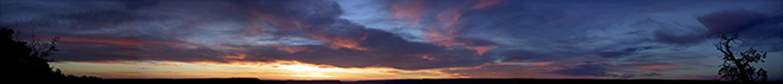 "Grand Canyon Sky, 2002 14"" x 96"""