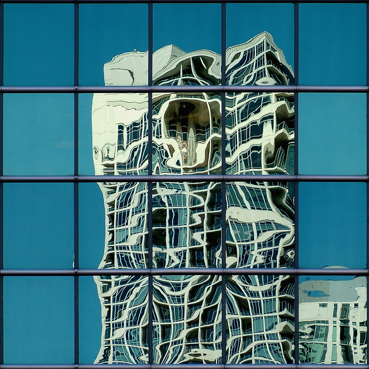"Reflection on Wacker, 2008 40"" x 40"""