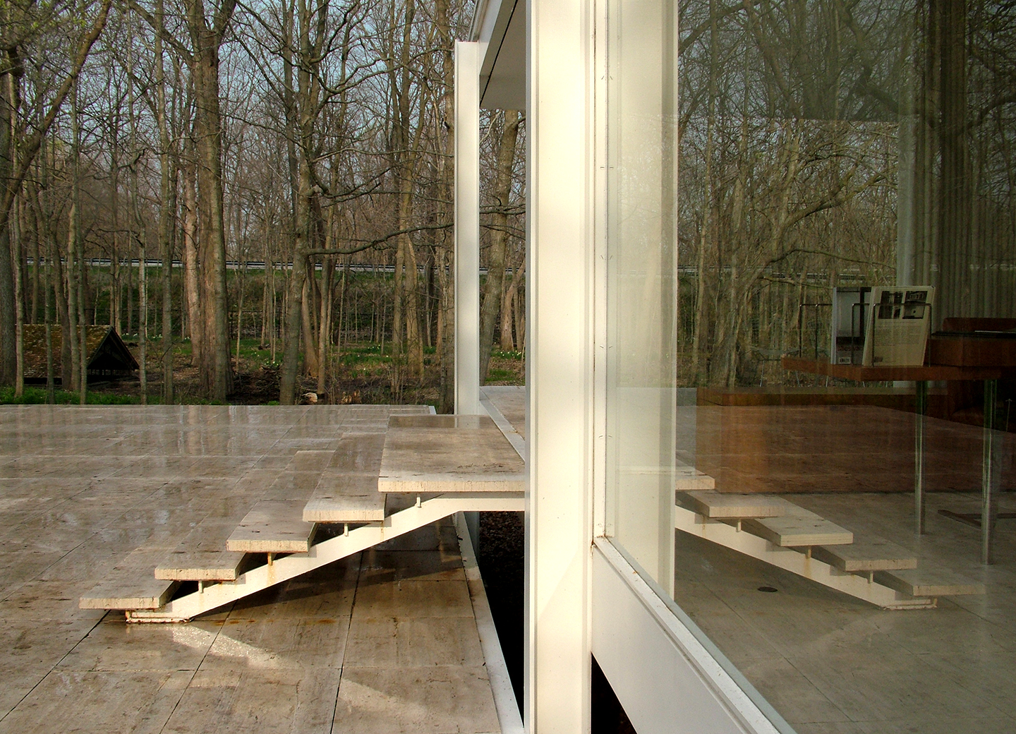 "Farnsworth House Stair Reflection No. 1, 2008  26"" x 36"""