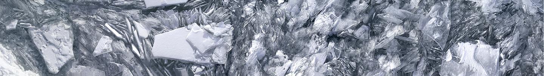 "Lake Michigan Ice No. 1, 2003 17"" x 96"""