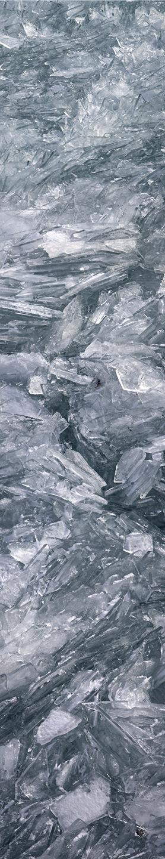 "Lake Michigan Ice No. 2, 2003 76"" x 18"""