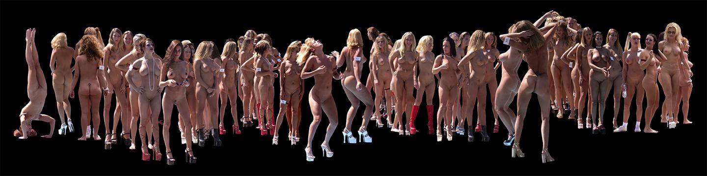 "Wall of Flesh, 2003  30"" x 120"" Duratrans"