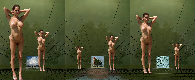 """Dream of Maenads, 2008   10"""" x 20"""""""