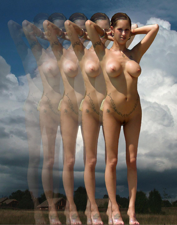 """Transparent Maenad, 2008  20"""" x 16"""""""