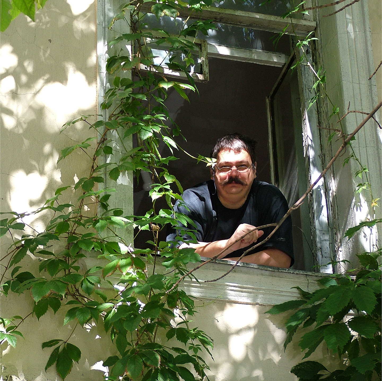 "Sergei Semenov in Studio Window, 2006   24"" x 24"""