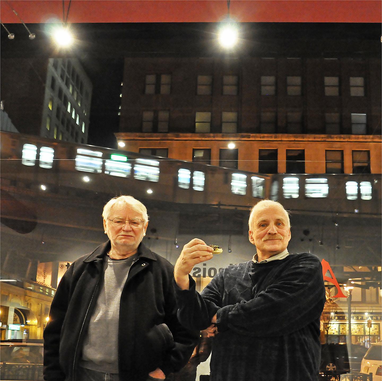 "Roger Bole and Jim Tansley, 2012   24"" x 24"""