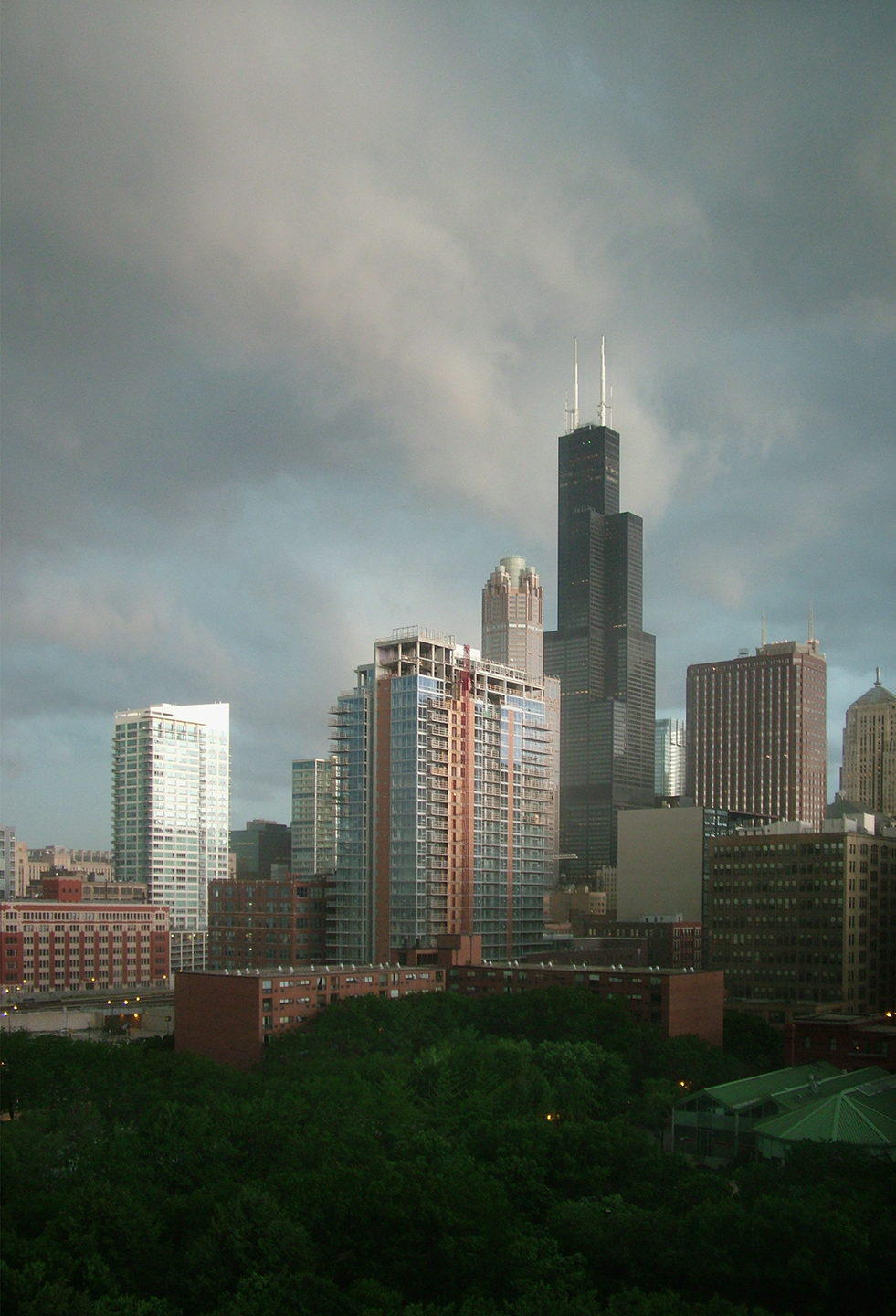 "Storm over the South Loop, 2008   48"" x 34"""