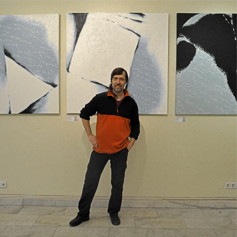 "Alexander Oligerov at Power of Water, 2012   24"" x 24"""
