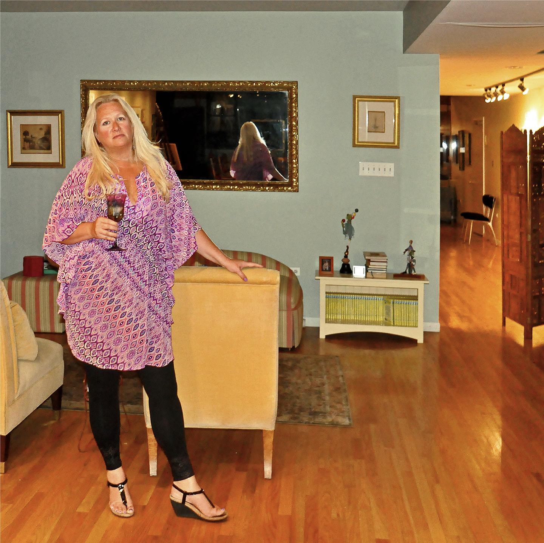 "Vicki Tesmer Behind the Gallery, 2012   24"" x 24"""
